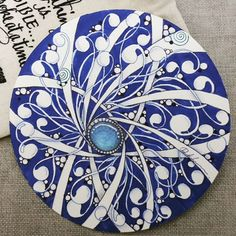 Zentangle Gems - ZIA071817.  Artwork from Rebecca Kuan - #rebeccasecretbox  Welcome to visit my FB Page:  http://www.facebook.com/Rebecca.Zentanglebox/  #zia #zentangle #zendoodle #doodle #doodleart #draw #drawing #tangle #art #artwork #sketch #zengems #zentanglegems #gems #zentangleart #zentangleinspiration #learnzentangle #zenart #hearttangles #blue