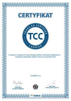 Certyfikat dla najlepszych firm transportowych - Trans.eu Certified Carrier | System Trans.eu