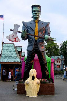 Frankenstein...  Haunted Trails Amusement Park  Burbank, Illinois