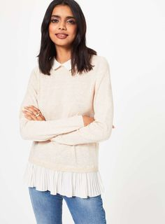 Knitted Pleated 2 in 1 Jumper - View All - Sale & Offers - Miss Selfridge US