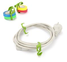 Great for cord management too!    http://globalgardenfriends.com/store/products/ultimate-plant-clips/