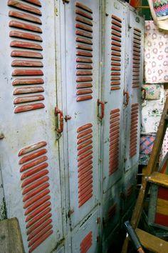 rustic lockers