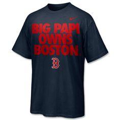 Red Sox Nike DriFit Papi Owns T-Shirt $35.00