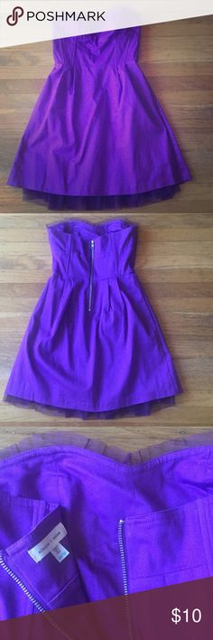 """Silent + noise purple strapless dress Size XS. Originally bought from urban outfitters. Only worn once, like new. Measures about 25"""" from top to bottom of dress. Has lace finish on the bust and bottom. Perfect for formal occasions. Urban Outfitters Dresses Strapless"""