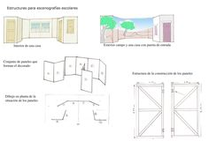 Construye tu escenografía con unas estructuras fáciles, que pueden servir de base para varios montajes, reciclable y no demasiado costosa. La base son unos paneles o plafones construidos con liston...