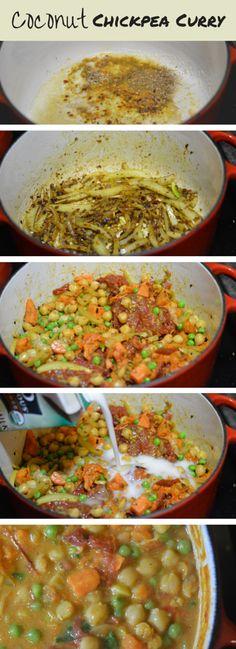 Vegetarian Coconut Chickpea Curry | The Kitchen Girl recipe blog #vegetarian #glutenfree #lowsodium Grab the recipe at http://thekitchengirl.com/vegetarian-coconut-chickpea-curry