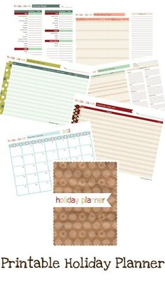 Printable Holiday Planner - this one might use too much ink..?