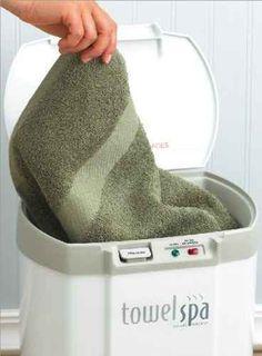 Disfruta cuando quieras del lujo de una toalla recién calentada.