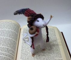 Xander Is A Needle Felted Gentle Folk Mouse Who by WildWoodHollow