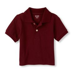 Baby Boys Toddler Boys Uniform Short Sleeve Solid Pique Polo - Red - The Children's Place