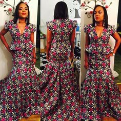 Check Out This Ankara Gown Design  http://www.dezangozone.com/2016/04/check-out-this-ankara-gown-design.html