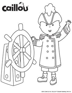 Print & Color - #Caillou is Ready for a High Sea Adventure!