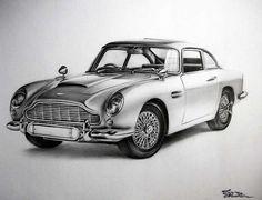 Aston Martin by mickoc on deviantART James Bond Movie Posters, James Bond Movies, Aston Martin Db5, Cartoon Drawings, Cool Cars, Sketches, Deviantart, Table, Ideas
