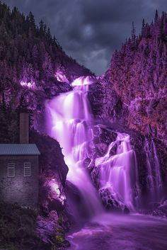 ❤ Shared by: ResumeExpert.Etsy.com ❤Purple. Ouiatchouan Falls - Val Jalbert - Canada QC by Yannis Marigo, Flickr