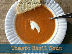 Okay, so I have been searching for a tomato soup recipe for quite some time. I never seem to like the ones I've tried this far. Panera Bread...