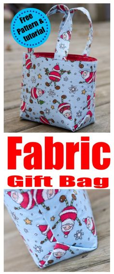 Reusable Fabric Gift Bag Tutorial Charmed By Ashley ; wiederverwendbare stoff geschenktüte tutorial charmed by ashley Reusable Fabric Gift Bag Tutorial Charmed By Ashley ; Easy Sewing Projects, Sewing Projects For Beginners, Sewing Tutorials, Sewing Crafts, Sewing Tips, Sewing Hacks, Bag Tutorials, Crafts To Sew, Sewing Ideas