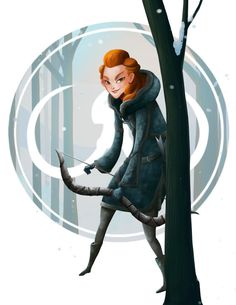 YGRITTE from GAME of THRONES (Song of Ice and Fire) art painting print, signed by Leann Hill