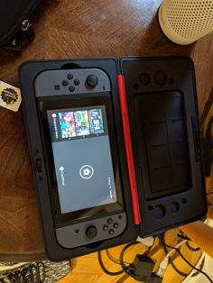 Nintendo Switch Console w/ Gray Joy-con, NBA card, Carrying case Nintendo 3ds, Nintendo Consoles, Gadget Gifts For Men, Computer Desk Setup, Bath N Body Works, Gamer News, Birthday Gifts For Brother, Gamer Room, Xbox
