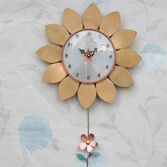 Sunflower Pendulum Bronze Wall Clock Handicraft, Art Home Decoration Handicraft, Clocks, Bronze, Decoration, Wall, Gifts, Home Decor, Craft, Dekoration