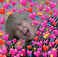 Image uploaded by Jai. Find images and videos about kpop, bts and jimin on We Heart It - the app to get lost in what you love. Bts Emoji, Haha, Heart Meme, Bts Meme Faces, Cute Love Memes, Kpop Memes, Bts Reactions, Foto Jimin, Bts Face