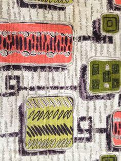 Mod1950s Geometric Vintage Barkcloth Fabric by KimberlyZ on Etsy, $89.00