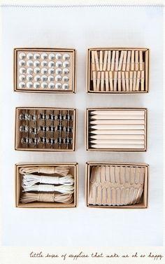Organized neatly.