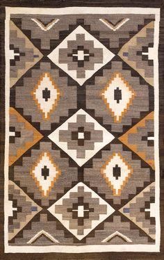 Patternatic - rahmanan: Katrina's Pick: Navajo x. Native American Blanket, Native American Rugs, Native American Patterns, American Indian Art, American Indians, Navajo Weaving, Navajo Rugs, Hand Weaving, Crochet Doily Rug