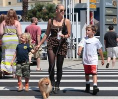 Gavin Rossdale takes his boys Kingston and Zuma to the farmers market