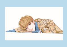 ဒီ fanart က ရိုးရွင္းၿပီးလွတယ္ 🧡 Fanart credit from owner. Baekhyun Fanart, Chanbaek Fanart, Baekyeol, Kpop Fanart, Chanyeol, Exo Fan Art, Photoshoot Pics, Exo Memes, Chibi