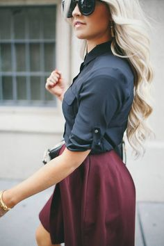 Have a red skirt like this. It i can use my skater dresses and put my black sheer top over them