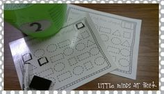 Little Minds at Work: Kindergarten Math Centers