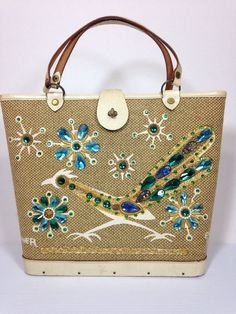 Enid Collins of Texas Roadrunner Handbag  #EnidCollins #BoxBag