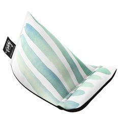 Aqua Stripes Wedge