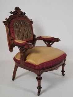 1876 Renaissance arm chairs, Berkey and Gay, Grd Rapids, MI, for 1876 Phila Centennial Exposition, wal, GRPM