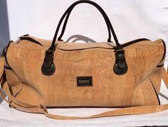 Unisex Travel  Bag. Natural Cork,Cork Travel bags,Eco-Friendly,Eco Bag,Vegan Product,Vegan Bag,Waterproof,Made in Portugal