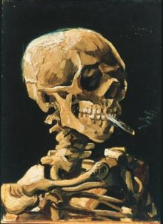 Vincent van Gogh - teschio con sigaretta accesa