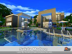 Sakda Modern house by autaki at TSR via Sims 4 Updates