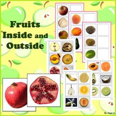 Fruit Inside and Out Matching Activity using real life pictures for students with autism, kindergarten, preschool,els. #fruits #activities #tptFor more resources follow https://www.pinterest.com/angelajuvic/autism-and-special-education-resources-angie-s-tpt/