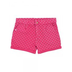 Girl's pink shorts with white micro polka-dots SUN68 SS15 KIDS #SUN68 #SS15 #kids #girl #shorts