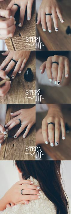 Skull Nails DIY! perfect for halloween http://www.siempre-lindas.cl/categoria/belleza/