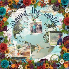 Various elements flowers and foliage from the following  All around the World by Studio Flergs and Digital Scrapbook Ingredients http://www.sweetshoppedesigns.com/sweetshoppe/product.php?productid=34466&cat=&page=1 Spring Woods by Kristin Cronin Barrow and Digital Scrapbook Ingedients http://www.sweetshoppedesigns.com/sweetshoppe/product.php?productid=33560&cat=&page=1  Great Outdoors Explore by Kristin Cronin Barrow…