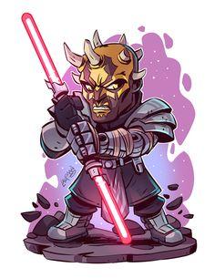 Star Wars: Savage Opress (The Clone Wars) - Star Wars Fan Art, Star Wars Cartoon, Cuadros Star Wars, Chibi Marvel, Star Wars Drawings, Chibi Characters, Star Wars Images, Star Wars Wallpaper, Star Wars Poster