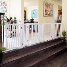 WELLAND Freestanding Wood Pet Gate White -- Click image to review more details.-It is an affiliate link to Amazon.