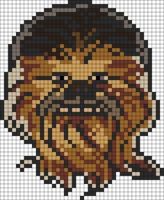 Star Wars Chewbacca perler bead pattern