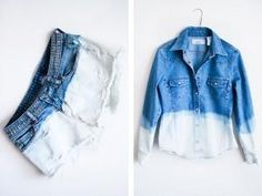 Diary of a Frugalista: DIY Bleached Denim – Take Off Your Clothes Diy Jeans, Jeans Refashion, Recycled Denim Crafts, Sew Your Own Clothes, Clothing Swap, Bleached Jeans, Shibori Tie Dye, Denim Shoes, Diy Fashion