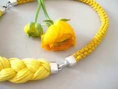 yellow  rope necklace   sunny statement by beYOUtifulhandmade, $39.00