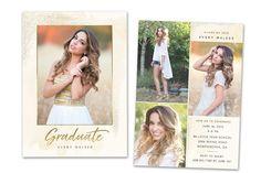 Graduation Announcement Senior Card ~ Card Templates ~ Creative Market