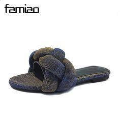 FAMIAO kobiety sandały pantofel letnie kobiety klapki 2018 slajdy terlik  muły buty damskie chaussures femme buty fe0bf59eb6ea