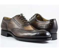 Burnished Calfskin Lace-Up Oxford Caramel Oxford Sneakers, Leather Sneakers, Oxford Shoes, White Leather Dress, Men's Shoes, Dress Shoes, High End Shoes, Lace Up Combat Boots, Black Oxfords
