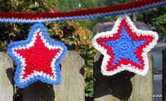 Free Crochet Pattern For Star Garland : 1000+ images about Patriotic Crochet on Pinterest Stars ...